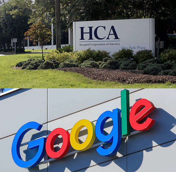 HCA Healthcare, a hospital system based in Nashville, recently announced a data-sharing deal with Google